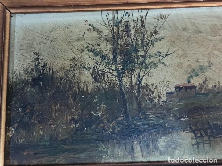 Arte: Bella pareja de óleos sobre tabla. Paisajes. Of - Foto 7 - 286429158