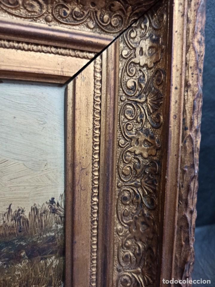 Arte: Bella pareja de óleos sobre tabla. Paisajes. Of - Foto 8 - 286429158