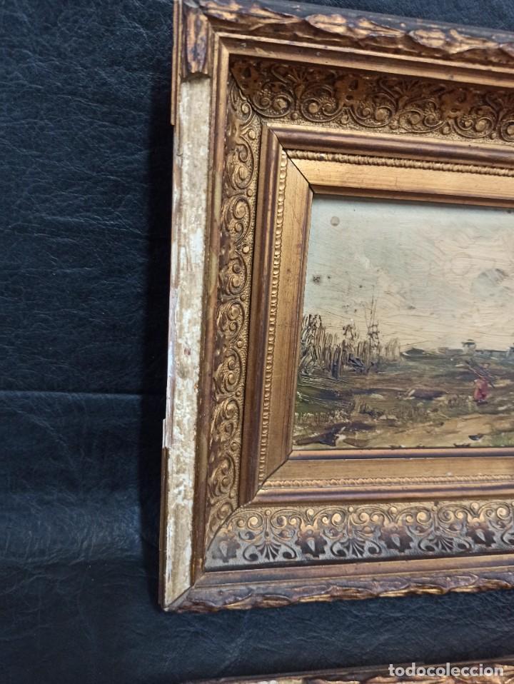 Arte: Bella pareja de óleos sobre tabla. Paisajes. Of - Foto 9 - 286429158