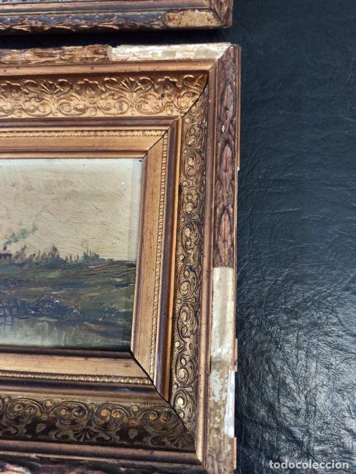 Arte: Bella pareja de óleos sobre tabla. Paisajes. Of - Foto 10 - 286429158