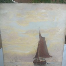 Art: ANTIGUO OLEO SOBRE TABLET INGLES. Lote 286434658