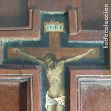 Arte: MAGNIFICO OLEO SOBRE TABLA DE SIGLO XVII,CON SOPORTE EN CAOBA MACIZA. Lote 286623228