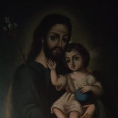 Arte: CUADRO GRANDE SAN JOSÉ CON NIÑO JESÚS, 1840-1860. Lote 286731848