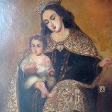 Arte: VIRGEN DEL CARMEN CON NIÑO SIGLO XVLLL. Lote 286734238