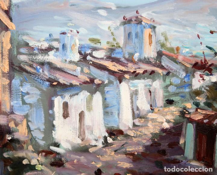 Arte: ALIAGA (SIGLO XX) OLEO SOBRE TELA FECHADO DEL AÑO 1975. PAISAJE - Foto 4 - 286804888