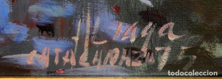 Arte: ALIAGA (SIGLO XX) OLEO SOBRE TELA FECHADO DEL AÑO 1975. PAISAJE - Foto 6 - 286804888
