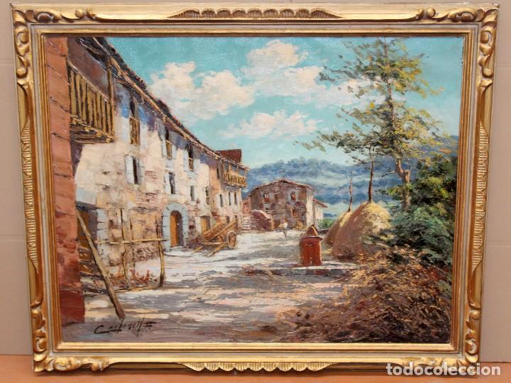 FRANCISCO CARBONELL MASSABE (1928 - ??) OLEO SOBRE TELA. MATINADA (RUPIT) 73 X 92 CM. (Arte - Pintura - Pintura al Óleo Contemporánea )