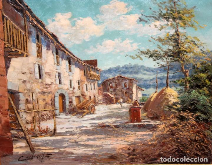 Arte: FRANCISCO CARBONELL MASSABE (1928 - ??) OLEO SOBRE TELA. MATINADA (RUPIT) 73 X 92 CM. - Foto 2 - 286808833