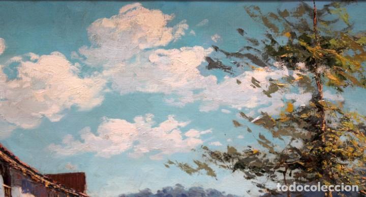 Arte: FRANCISCO CARBONELL MASSABE (1928 - ??) OLEO SOBRE TELA. MATINADA (RUPIT) 73 X 92 CM. - Foto 3 - 286808833