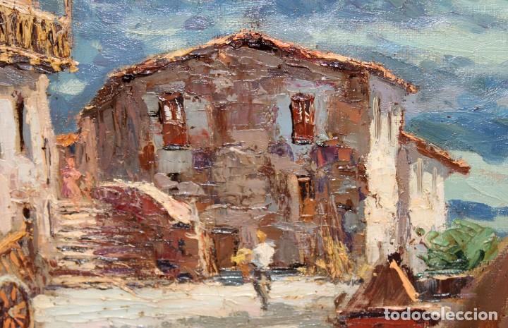 Arte: FRANCISCO CARBONELL MASSABE (1928 - ??) OLEO SOBRE TELA. MATINADA (RUPIT) 73 X 92 CM. - Foto 4 - 286808833