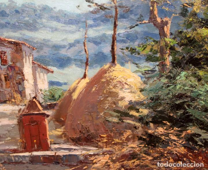 Arte: FRANCISCO CARBONELL MASSABE (1928 - ??) OLEO SOBRE TELA. MATINADA (RUPIT) 73 X 92 CM. - Foto 5 - 286808833