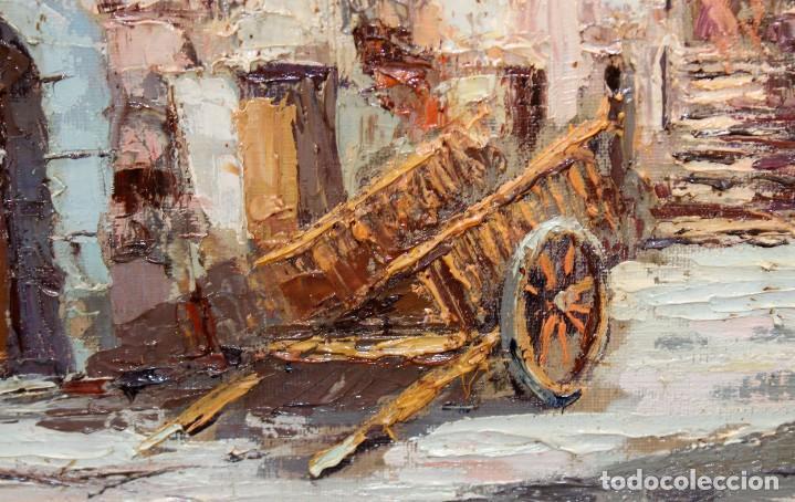 Arte: FRANCISCO CARBONELL MASSABE (1928 - ??) OLEO SOBRE TELA. MATINADA (RUPIT) 73 X 92 CM. - Foto 6 - 286808833