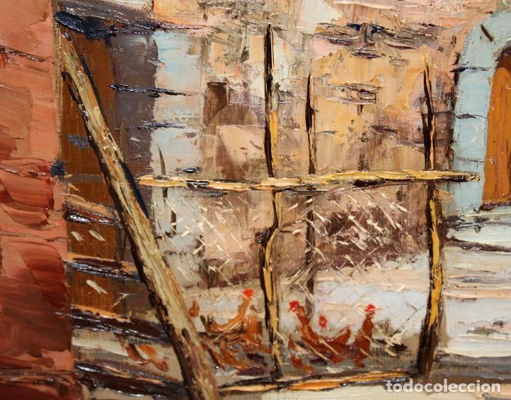 Arte: FRANCISCO CARBONELL MASSABE (1928 - ??) OLEO SOBRE TELA. MATINADA (RUPIT) 73 X 92 CM. - Foto 7 - 286808833