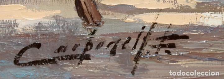 Arte: FRANCISCO CARBONELL MASSABE (1928 - ??) OLEO SOBRE TELA. MATINADA (RUPIT) 73 X 92 CM. - Foto 8 - 286808833
