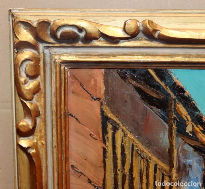 Arte: FRANCISCO CARBONELL MASSABE (1928 - ??) OLEO SOBRE TELA. MATINADA (RUPIT) 73 X 92 CM. - Foto 10 - 286808833