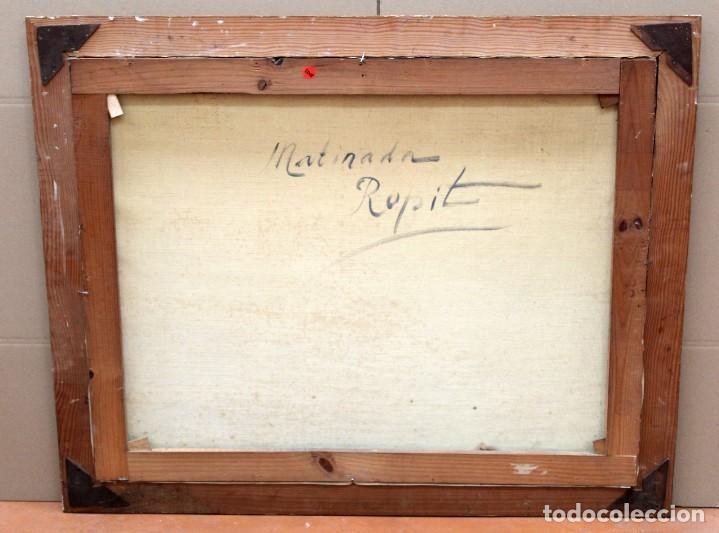 Arte: FRANCISCO CARBONELL MASSABE (1928 - ??) OLEO SOBRE TELA. MATINADA (RUPIT) 73 X 92 CM. - Foto 12 - 286808833