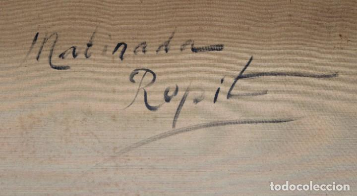 Arte: FRANCISCO CARBONELL MASSABE (1928 - ??) OLEO SOBRE TELA. MATINADA (RUPIT) 73 X 92 CM. - Foto 13 - 286808833