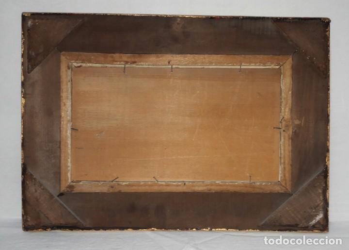 Arte: SIGLO XIX. CUADRO. OLEO SOBRE TABLA EN MARCO DE MADERA TALLADA Y DORADA. FIRMADO RULA - Foto 7 - 286851543