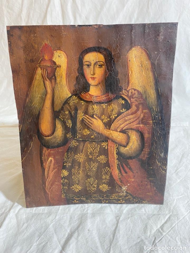ÓLEO SOBRE COBRE EN PINTURA COLONIAL CUZQUEÑA, PERU S XVIII (Arte - Pintura - Pintura al Óleo Antigua siglo XVIII)