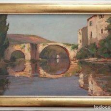 Arte: GEO GYANINY (FRANCIA, S, XIX-XX). PAISAJE DE LA PORTE DE BAGNOLET. Ó/TABLA. MIDE 53 X 36 CM.. Lote 287038423