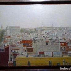 Arte: GRAN ÓLEO SOBRE TELA DE ALICIA GRAU (BARCELONA 1955). PAISAJE URBANO DE BARCELONA. BIEN ENMARCADO.. Lote 287038518