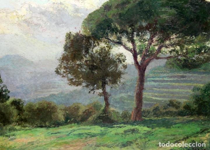 ISIDRE ODENA DAURA (TERRASSA, 1910 - 2008) OLEO SOBRE TABLA. PAISAJE. 50 X 65 CM. (Arte - Pintura - Pintura al Óleo Contemporánea )