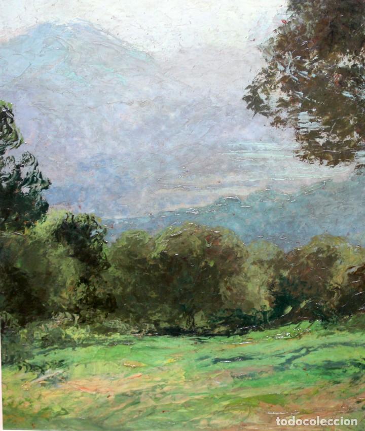 Arte: ISIDRE ODENA DAURA (TERRASSA, 1910 - 2008) OLEO SOBRE TABLA. PAISAJE. 50 X 65 CM. - Foto 3 - 287058148