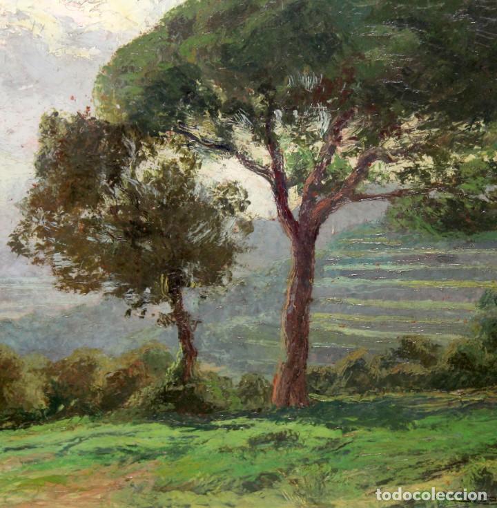 Arte: ISIDRE ODENA DAURA (TERRASSA, 1910 - 2008) OLEO SOBRE TABLA. PAISAJE. 50 X 65 CM. - Foto 4 - 287058148