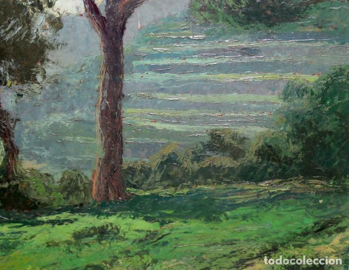 Arte: ISIDRE ODENA DAURA (TERRASSA, 1910 - 2008) OLEO SOBRE TABLA. PAISAJE. 50 X 65 CM. - Foto 5 - 287058148