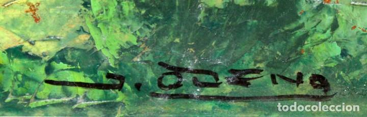 Arte: ISIDRE ODENA DAURA (TERRASSA, 1910 - 2008) OLEO SOBRE TABLA. PAISAJE. 50 X 65 CM. - Foto 6 - 287058148