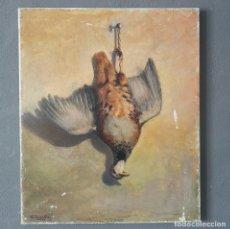 Art: OLEO SOBRE LIENZO NATURALEZA MUERTA PERDIZ EN TECNICA HIPERREALISTA FIRMADO M. ROIGUARDIA 1956. Lote 287076288