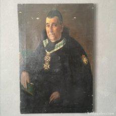 Art: OLEO SOBRE LIENZO RETRATO DE NOBLE CON EMBLEMA REAL ORDEN CARLOS III ESCUELA ESPAÑOLA S XI. Lote 287100218