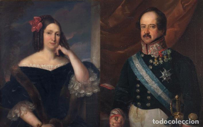 CARDERERA Y SOLANO, VALENTIN (1796-1880). RETRATOS DE LOS MARQUESES DE MALPICA (Arte - Pintura - Pintura al Óleo Moderna siglo XIX)