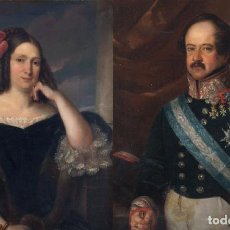 Arte: CARDERERA Y SOLANO, VALENTIN (1796-1880). RETRATOS DE LOS MARQUESES DE MALPICA. Lote 287102338