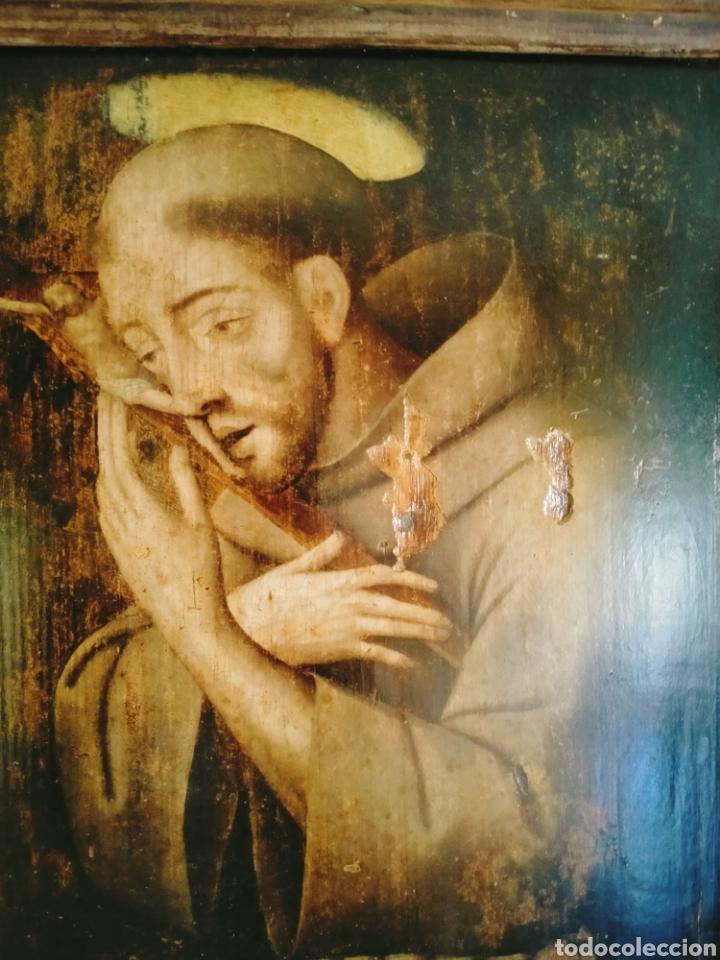 SAN FRANCISCO OLEO SOBRE TABLA SIGLOXVI (Arte - Pintura - Pintura al Óleo Antigua siglo XVI)