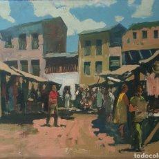 Arte: DOMINGO CAMPOY ABELLÁN (BARCELONA, 1926) - ESCENA DE MERCADO.OLEO/TELA.FIRMADO.GRAN FORMATO.. Lote 287183723