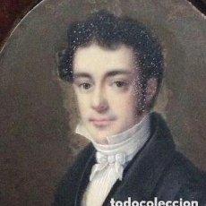 Arte: ANTIGUA MINIATURA FRANCESA FIRMADA,JEAN-BAPTISTE-FERDINAND MULNIER SIGLO XVIII. Lote 287264473