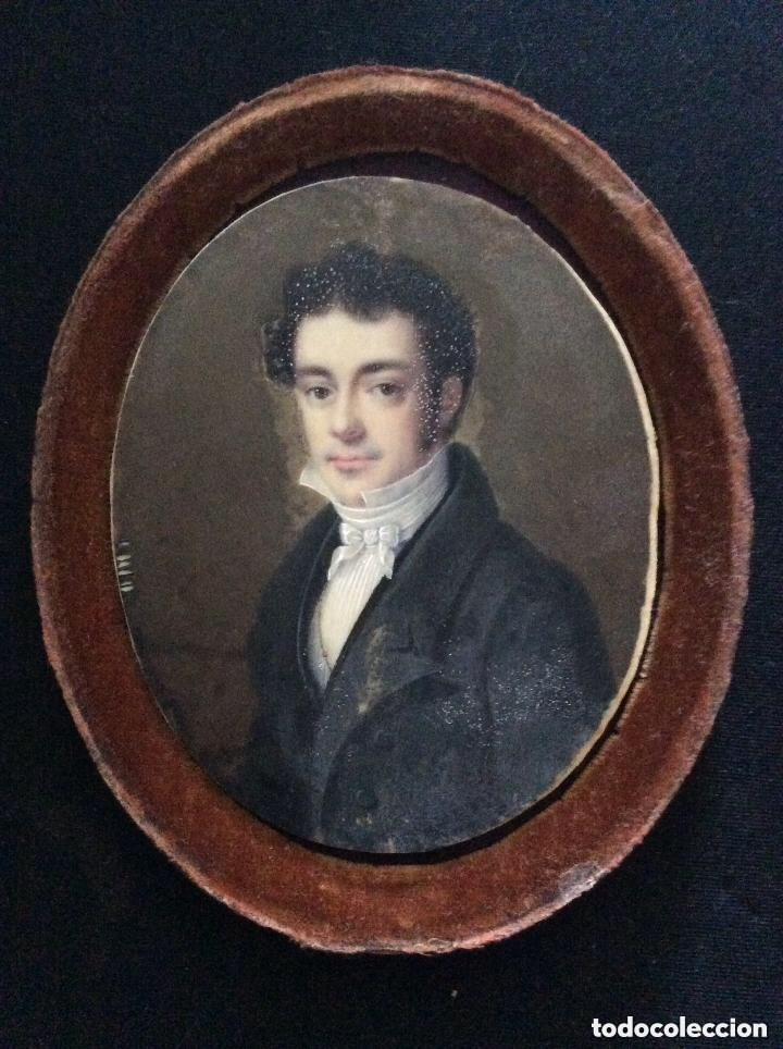 Arte: ANTIGUA MINIATURA FRANCESA FIRMADA,Jean-Baptiste-Ferdinand Mulnier SIGLO XVIII - Foto 2 - 287264473