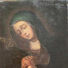 Arte: ÓLEO S/LIENZO SIGLO XVII -DOLOROSA- ESCUELA MADRILEÑA, DIM.- 47.5X36.5 CMS.. Lote 287308703