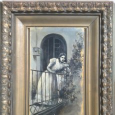Arte: JOSÉ CUCHY ARNAU - JOVEN EN EL BALCÓN-. Lote 287332343