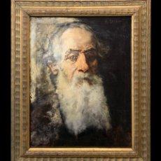 Arte: AUTORETRATO DE M. LOVAZZI, PINTOR IMPRESIONISTA ITALIANO, 1885. Lote 287345168