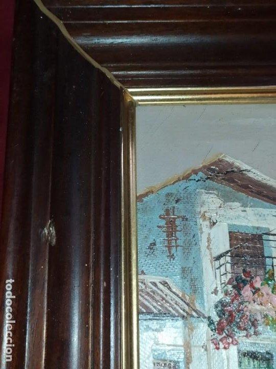 Arte: ÓLEO SOBRE LIENZO ENMARCADO PAISAJE PRADO MASÍA CASA SIN FIRMA APARENTE SE AGRADECE INFORMACIÓN - Foto 4 - 287588368