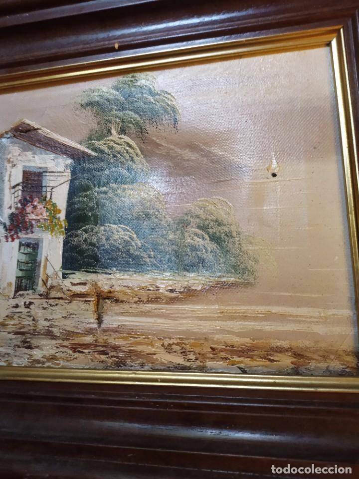 Arte: ÓLEO SOBRE LIENZO ENMARCADO PAISAJE PRADO MASÍA CASA SIN FIRMA APARENTE SE AGRADECE INFORMACIÓN - Foto 10 - 287588368