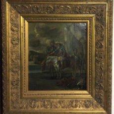Arte: D.QUIXOTE DE LA MANCHA,ÓLEO SOBRE PLANCHA DE COBRE CON ESCENA DEL QUIJOTE,FINALES DEL SIGLO XVIII. Lote 287624178