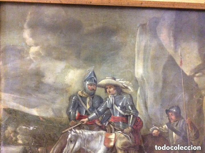 Arte: D.QUIXOTE DE LA MANCHA,Óleo sobre Plancha de cobre con escena del Quijote,finales del Siglo XVIII - Foto 2 - 287624178
