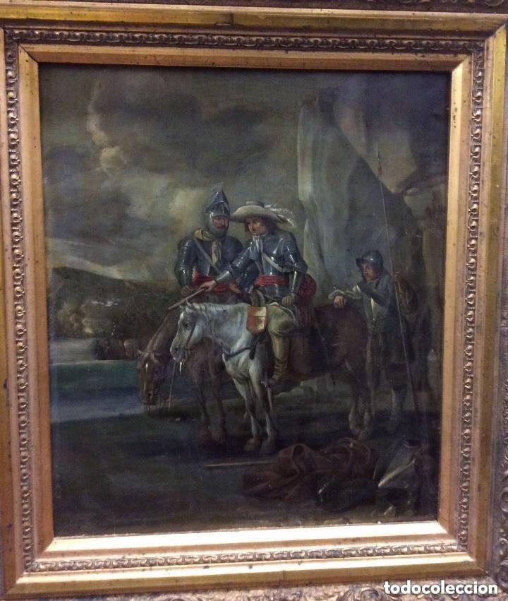 Arte: D.QUIXOTE DE LA MANCHA,Óleo sobre Plancha de cobre con escena del Quijote,finales del Siglo XVIII - Foto 9 - 287624178