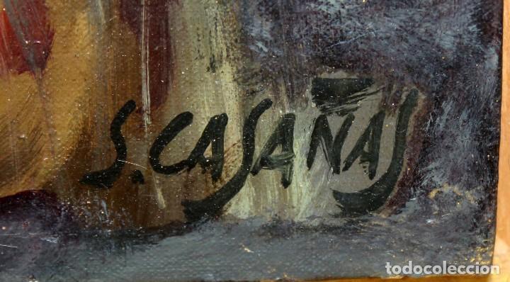 Arte: SALVADOR CASAÑAS (1903 - ??) OLEO SOBRE TELA. RETRATO DE UNA BAILADORA - Foto 6 - 287652468