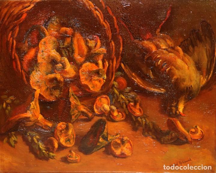 ANTONI VIDAL ROLLAND (1889 - 1970) OLEO SOBRE TELA. NATURALEZA MUERTA. 46 X 54 CM. (Arte - Pintura - Pintura al Óleo Contemporánea )