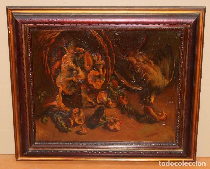 Arte: ANTONI VIDAL ROLLAND (1889 - 1970) OLEO SOBRE TELA. NATURALEZA MUERTA. 46 X 54 CM. - Foto 2 - 287655453