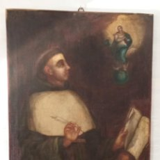 Arte: IMPORTANTE PINTURA RELIGIOSA AL OLEO - JUAN DUNS SCOTO . ESCOCIA . UNIVERSIDAD COLONIA OXFORD PARIS. Lote 287676723